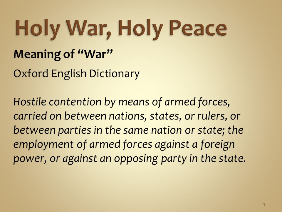 6 Meaning of War Merriam - Webster A state of usually open and declared armed hostile conflict between political units (as states or nations).