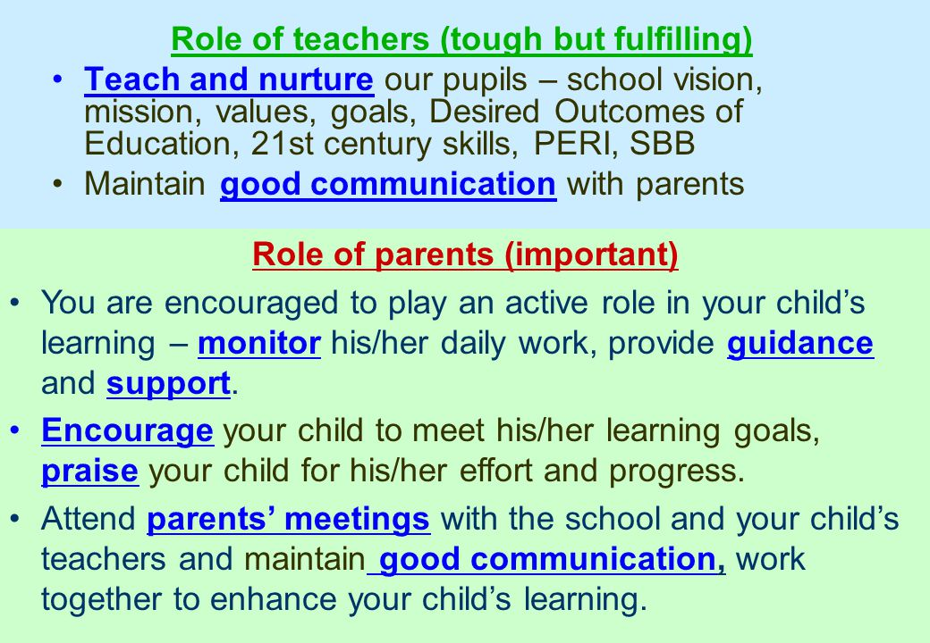 River Valley Primary School – Strive for the Best Role of teachers (tough but fulfilling) Teach and nurture our pupils – school vision, mission, value