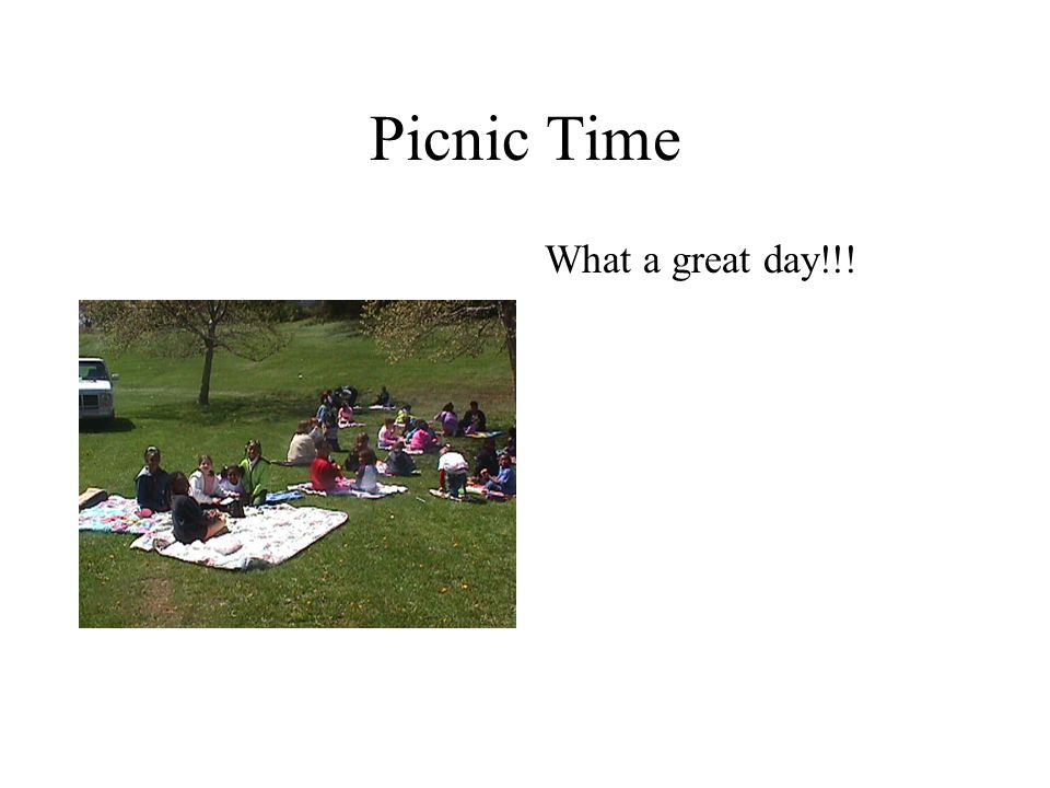 Picnic Time What a great day!!!
