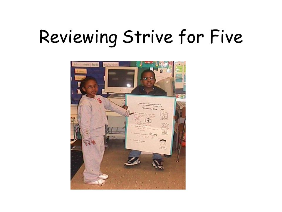 Monitoring Strive For Five