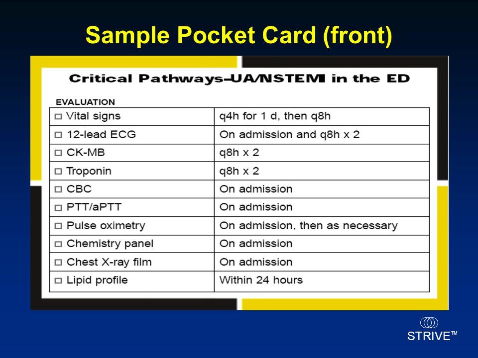 STRIVE TM Sample Pocket Card (front)
