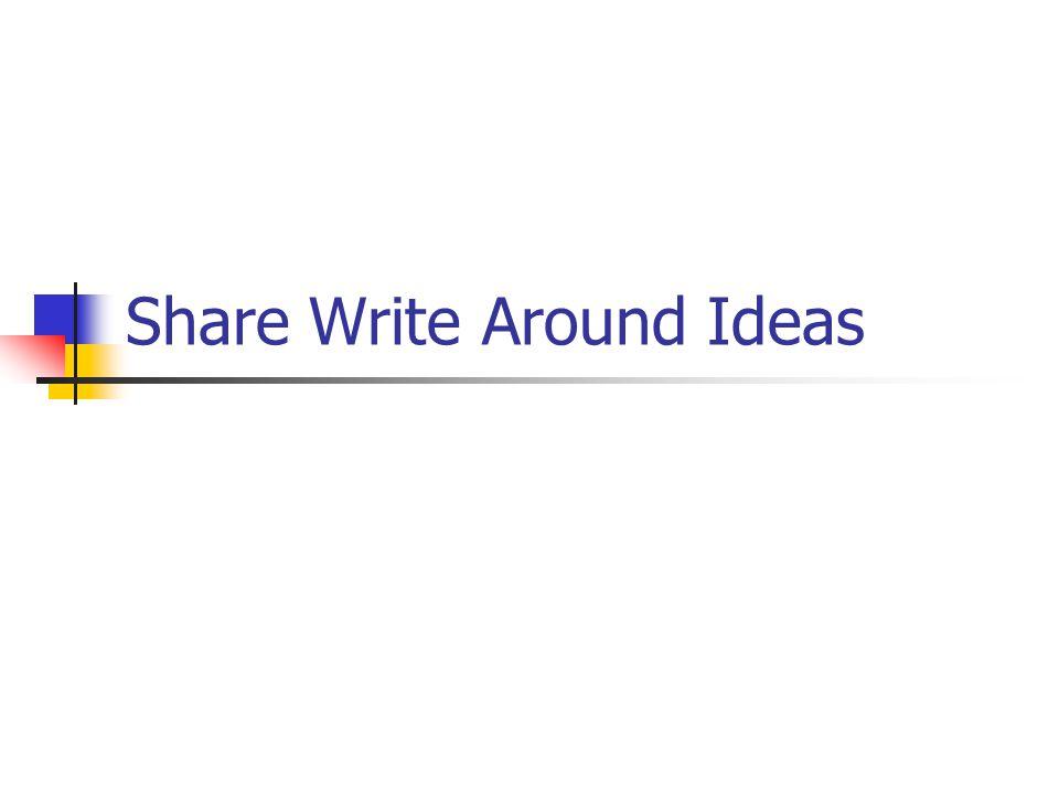 Share Write Around Ideas