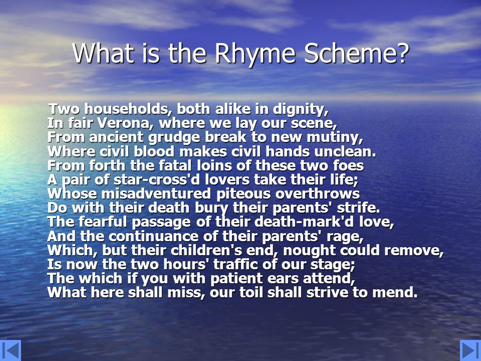 What type of sonnet is The Prologue .
