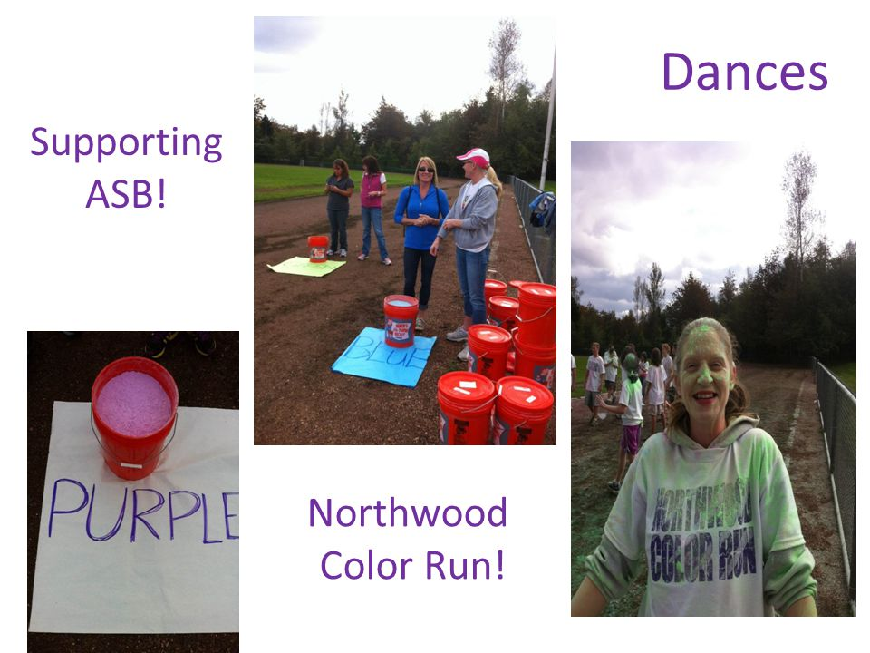 Supporting ASB! Dances Northwood Color Run!