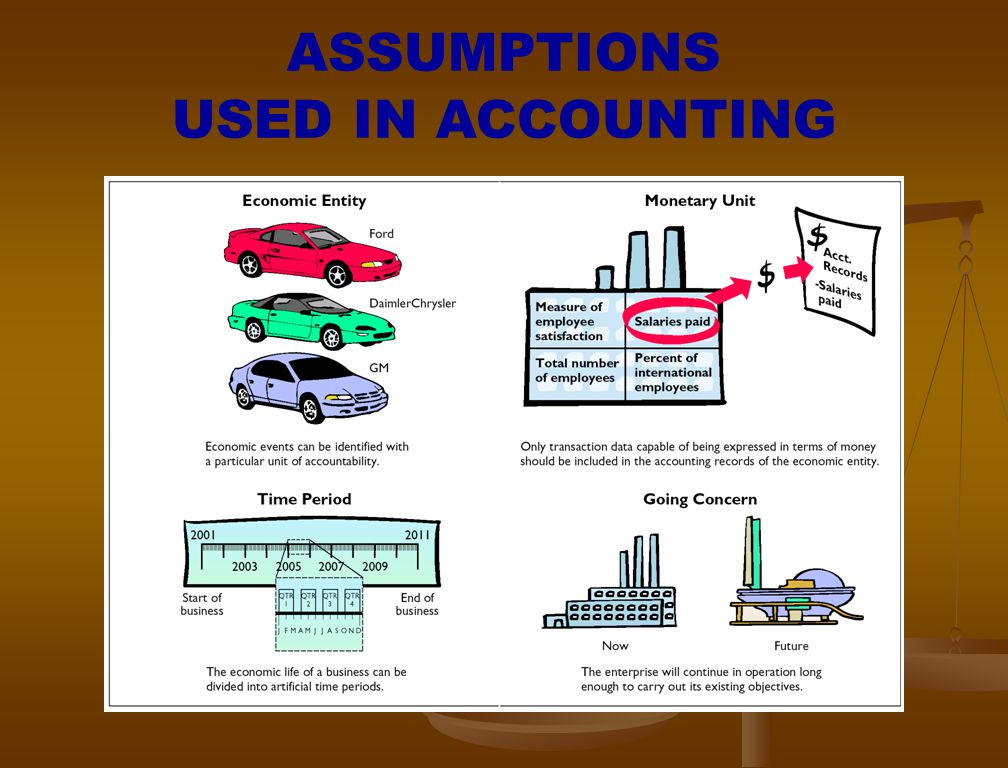 ASSUMPTIONS USED IN ACCOUNTING