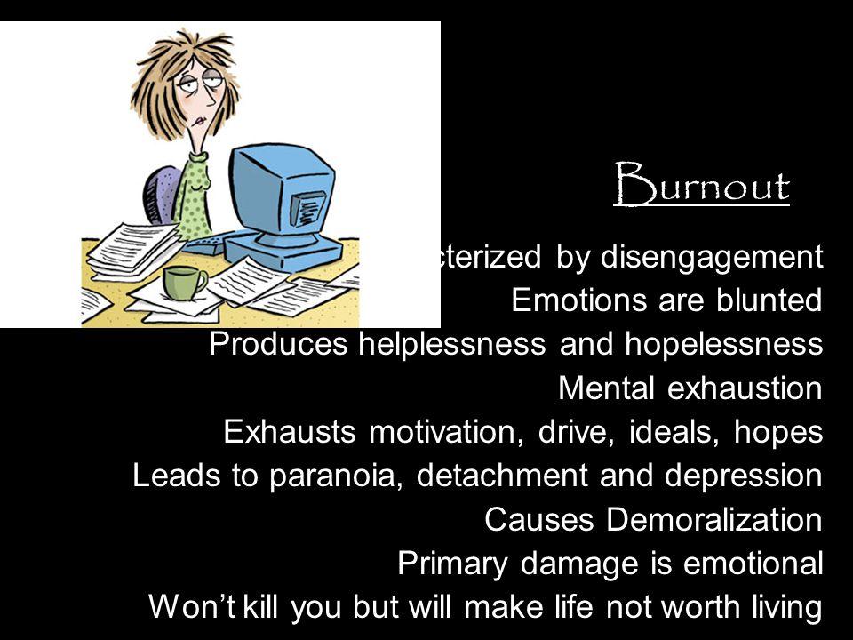 Defining Burnout