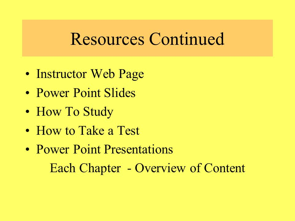 Resources Study Center – Free Tutoring – walk in or individual - *** Use This!!!.