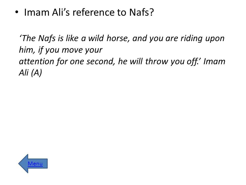 Nafs-e-Ammara refers to.