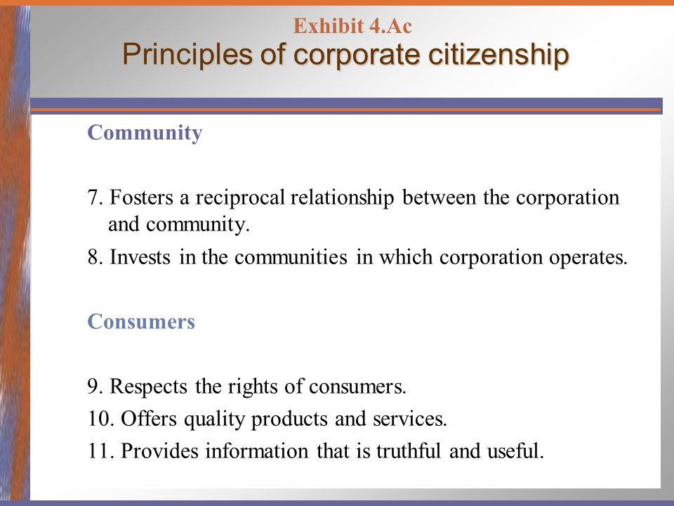 Principles of corporate citizenship Employees 12.Provides a family-friendly work environment.
