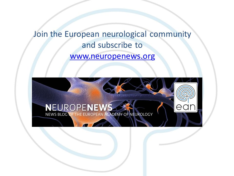 Join the European neurological community and subscribe to www.neuropenews.org