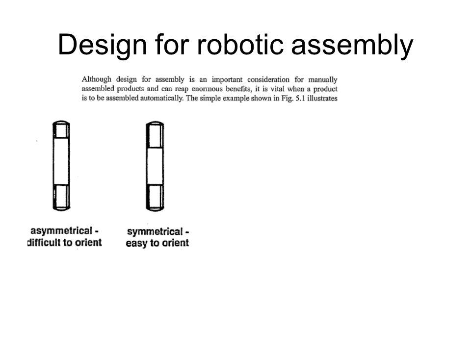Design for robotic assembly