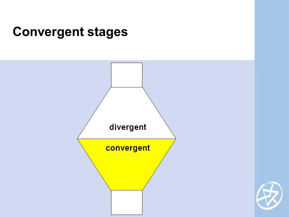 Convergent stages divergent convergent