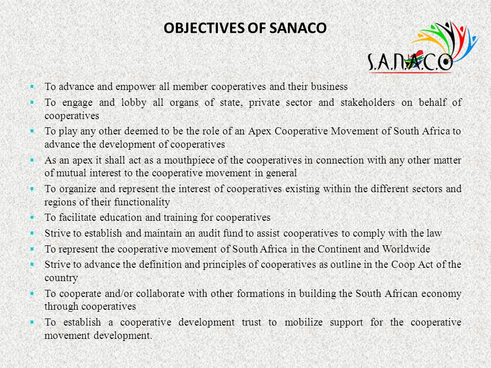 CONCLUSION THANK YOU www.sanaco.coop info@sanaco.coop diteko@sanaco.coop