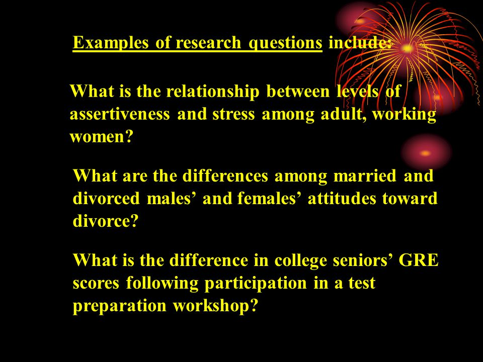 Use the word difference in a research question or an hypothesis if at least one of the variables involved is discrete.