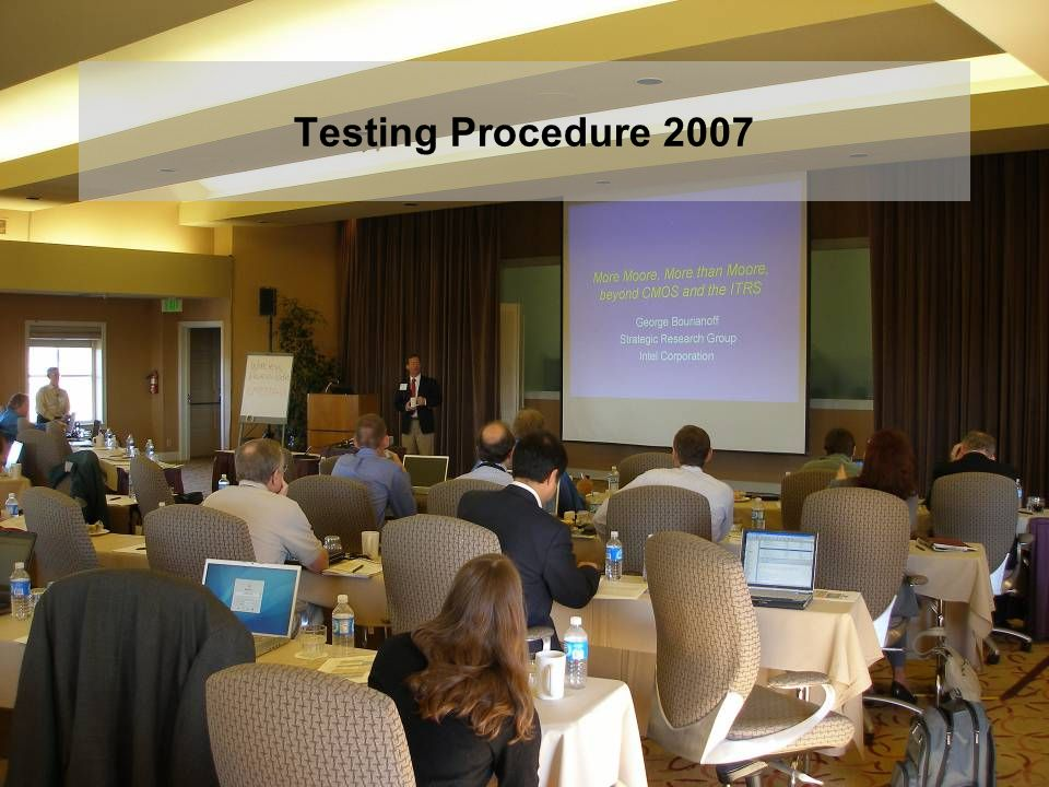 Testing Procedure 2007