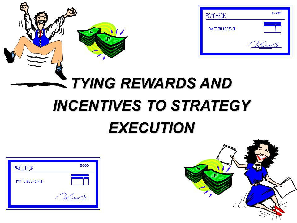 TYING REWARDS AND INCENTIVES TO STRATEGY EXECUTION