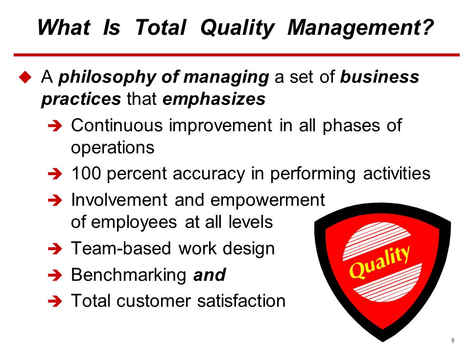9 What Is Total Quality Management.