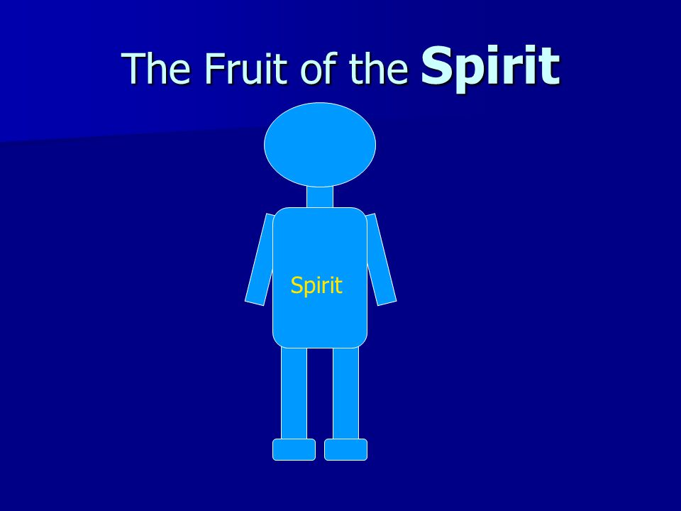 The Fruit of the Spirit The only way we can bear the fruit of the Spirit is by filling ourselves with the Spirit.