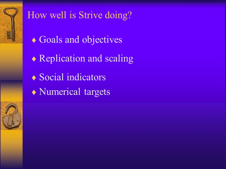 How well is Strive doing.