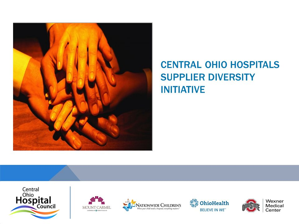 CENTRAL OHIO HOSPITALS SUPPLIER DIVERSITY INITIATIVE