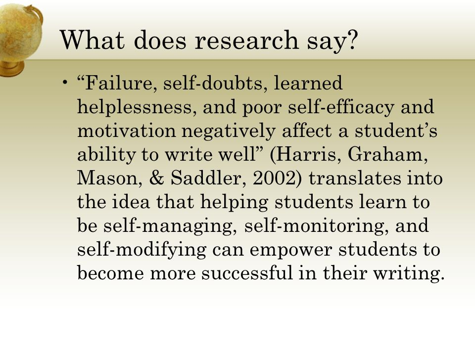 What does research say.