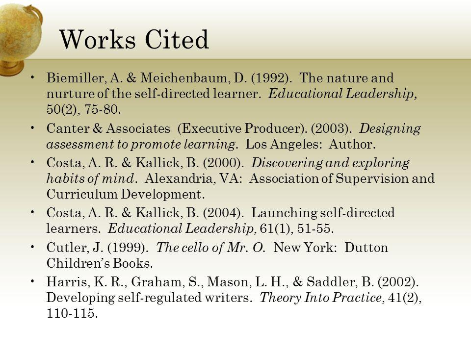 Works Cited Biemiller, A. & Meichenbaum, D. (1992).