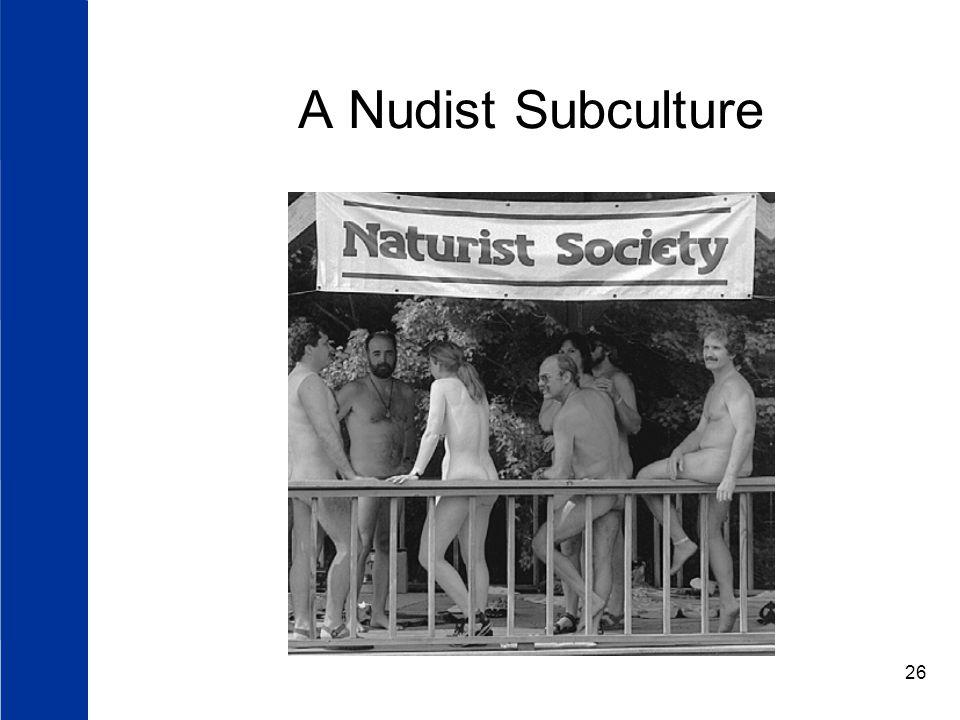 26 A Nudist Subculture