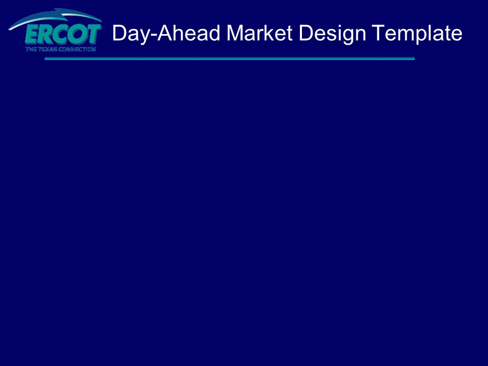 Day-Ahead Market Design Template