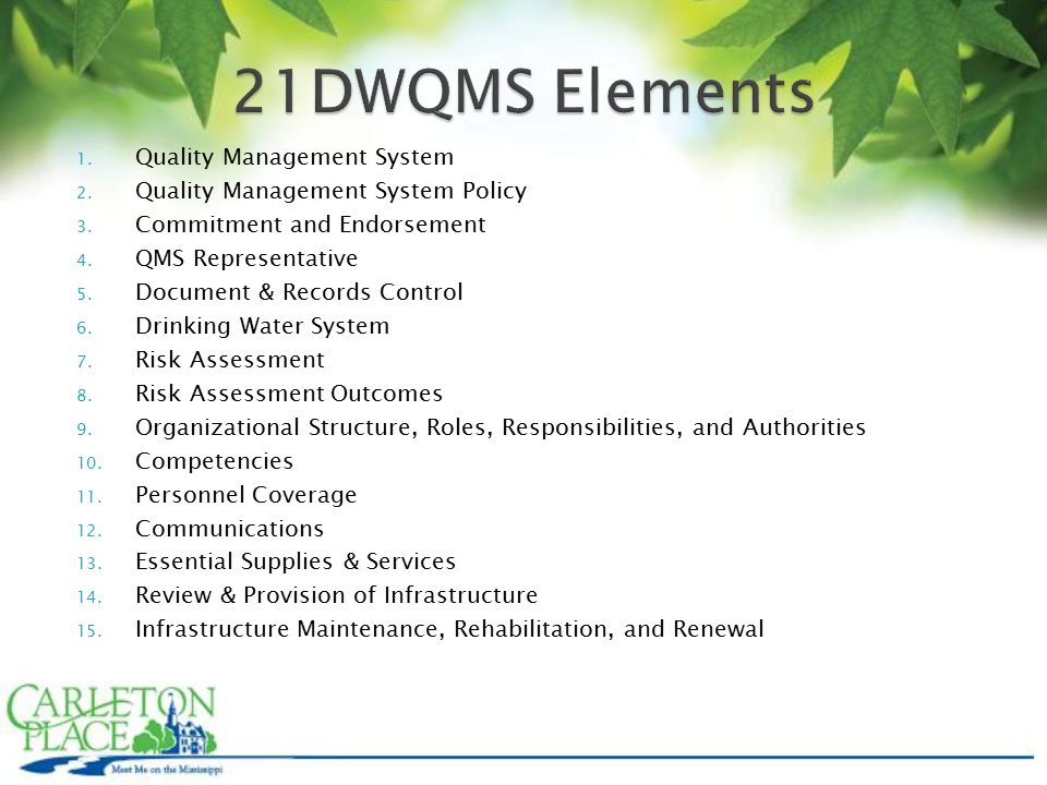 1. Quality Management System 2. Quality Management System Policy 3.