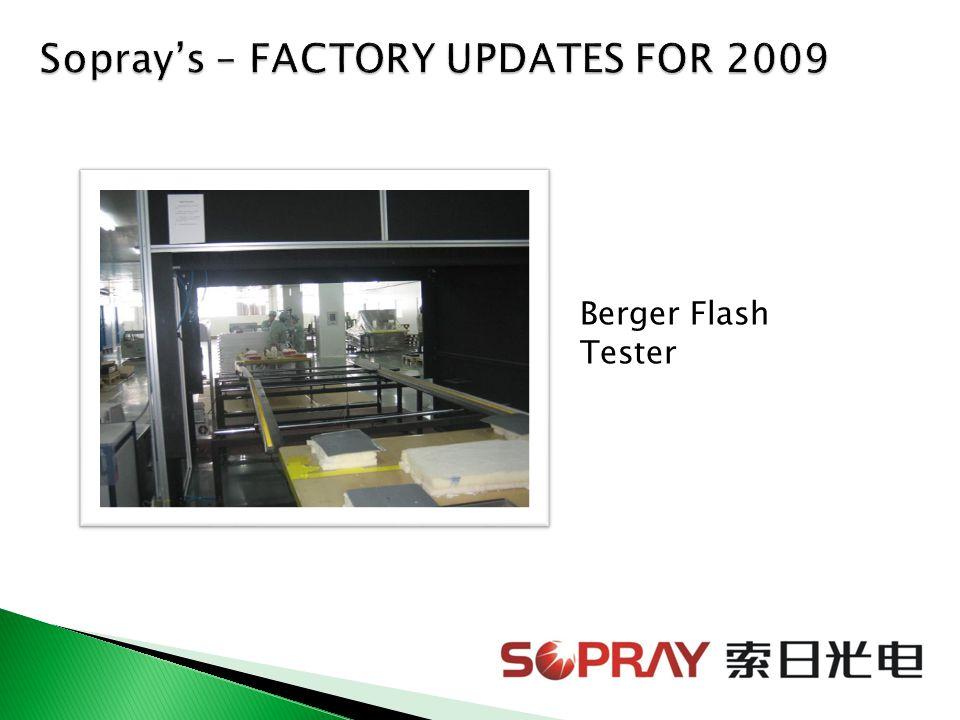 Berger Flash Tester