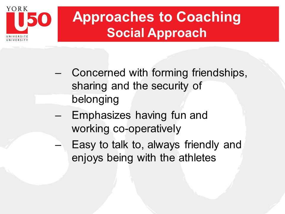 Approaches to Coaching NCCP Survey –What approach do most coaches take.