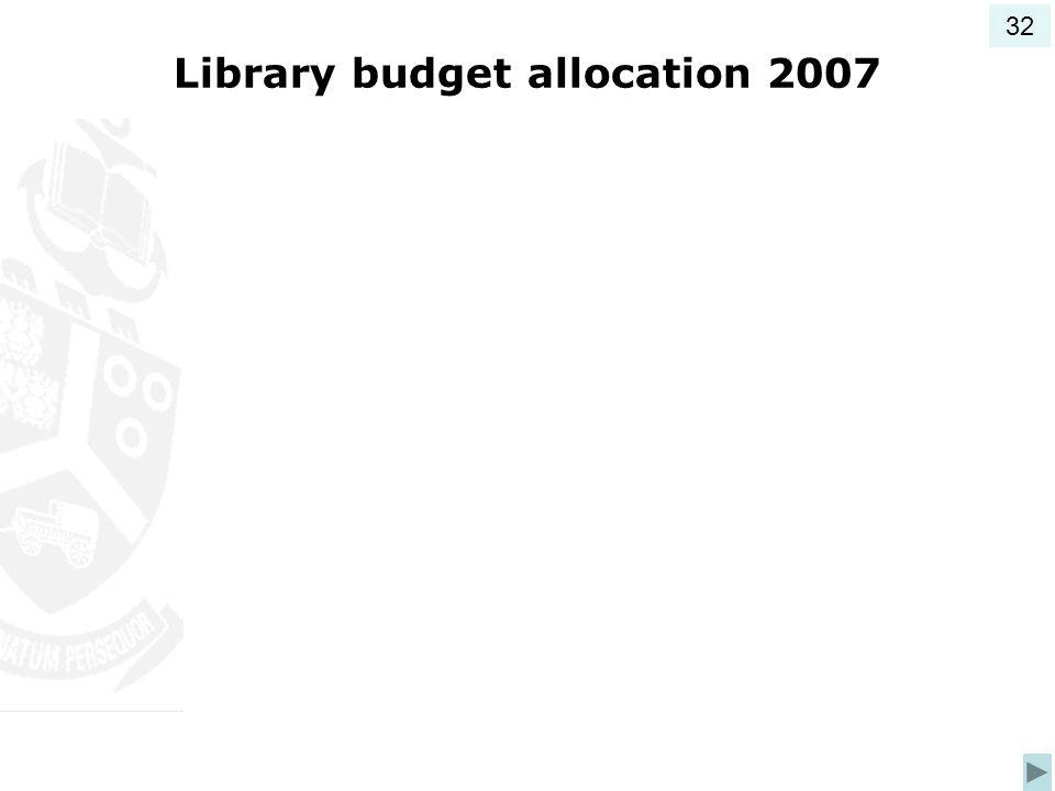 Library budget allocation 2007 32