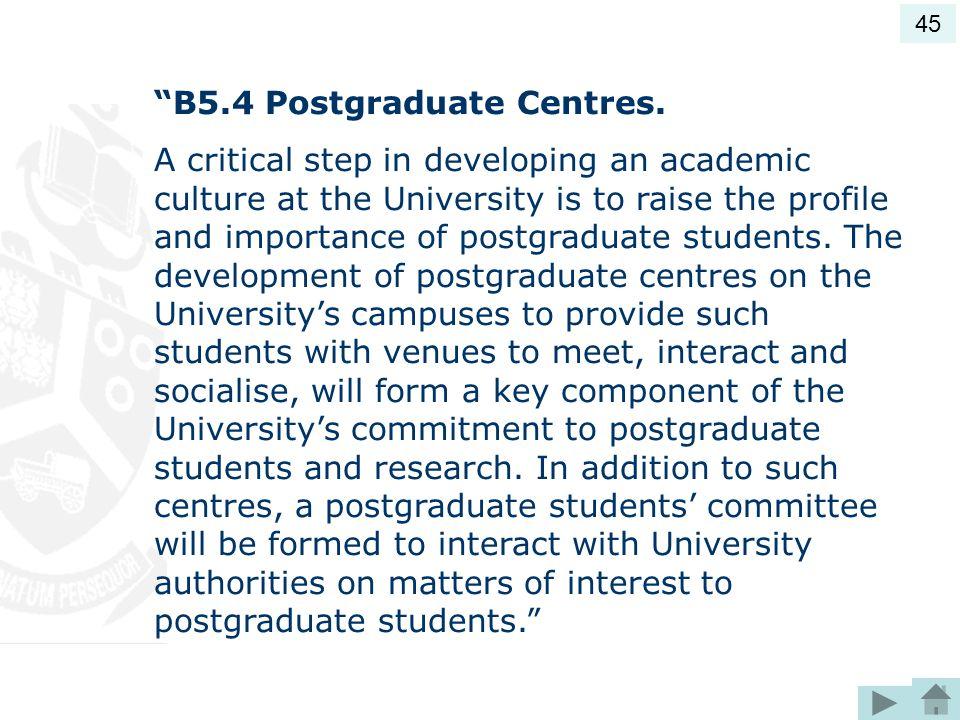B5.4 Postgraduate Centres.