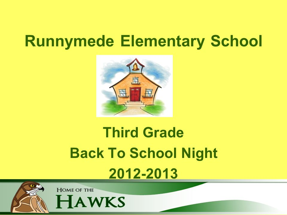 Runnymede Elementary School Third Grade Back To School Night 2012-2013