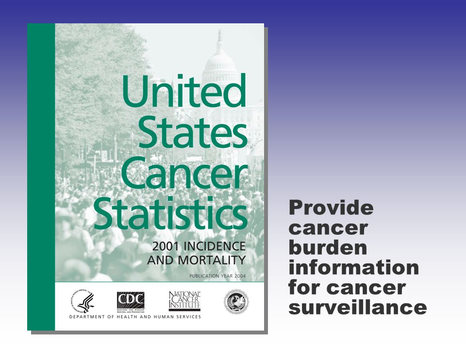 Provide cancer burden information for cancer surveillance