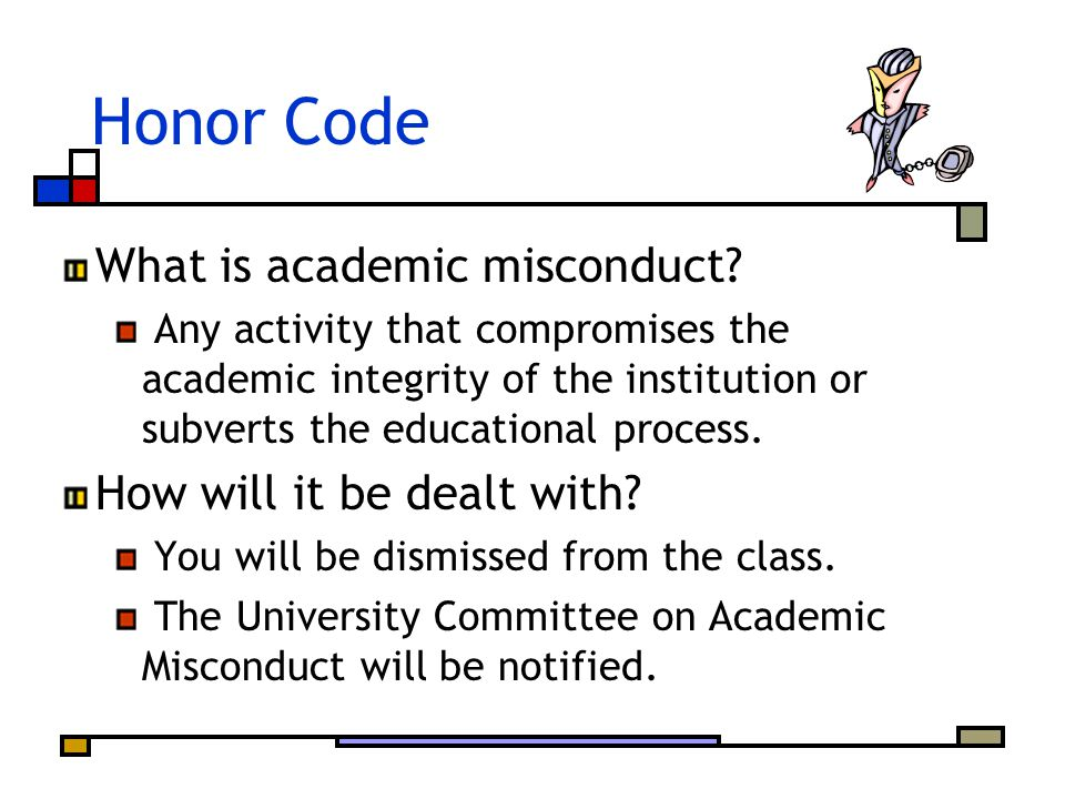 Honor Code What is academic misconduct.