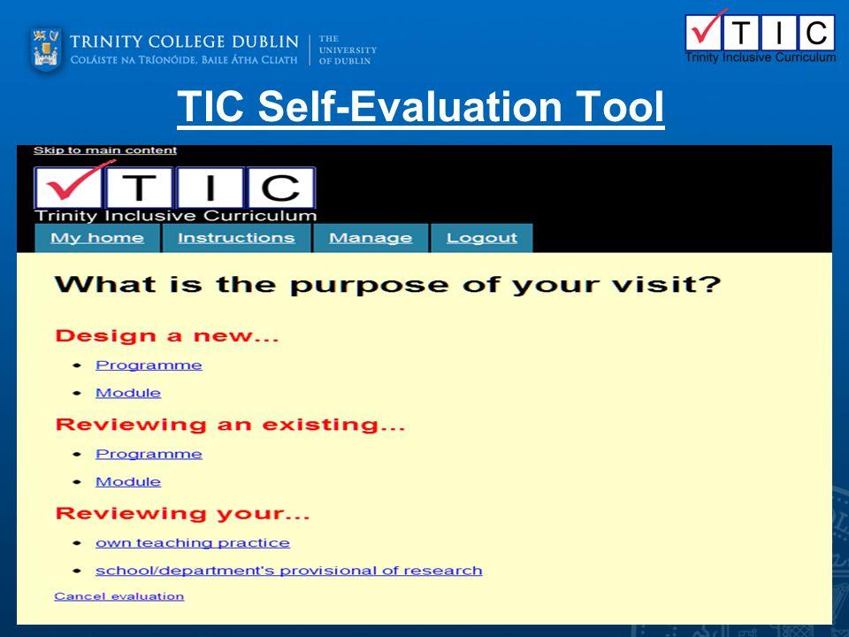 TIC Self-Evaluation Tool