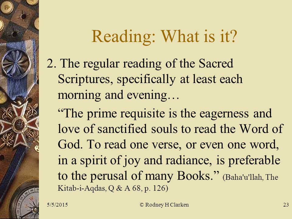 Reading: What is it. 2.