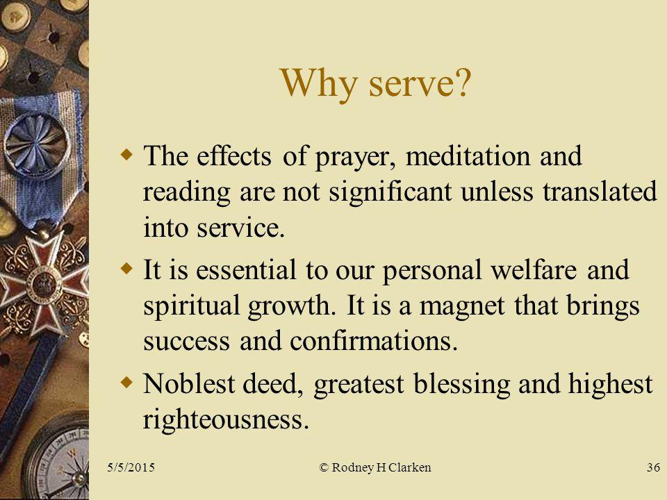 Why serve.