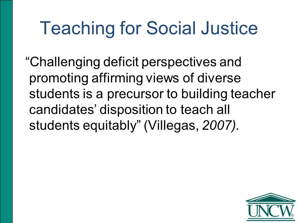 Conscience: How do we teach for social justice.