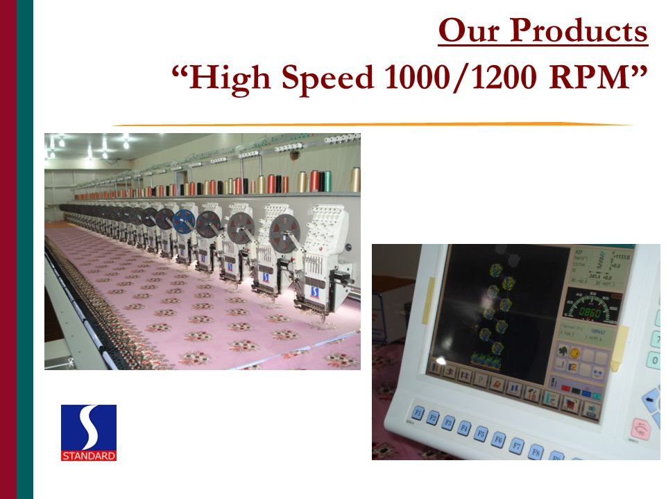 Our Products High Speed 1000/1200 RPM