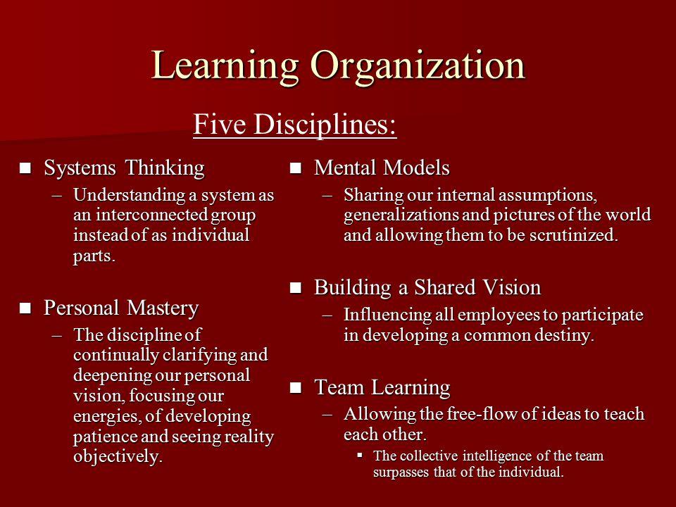 TQM and Learning Organization Similarities: 1.