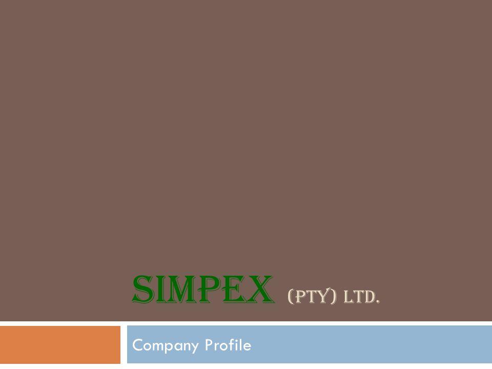 SIMPEX (PTY) LTD. Company Profile
