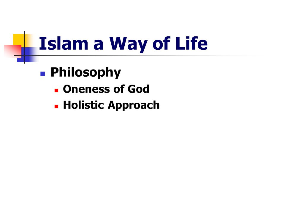 Islam a Way of Life Philosophy Oneness of God Holistic Approach