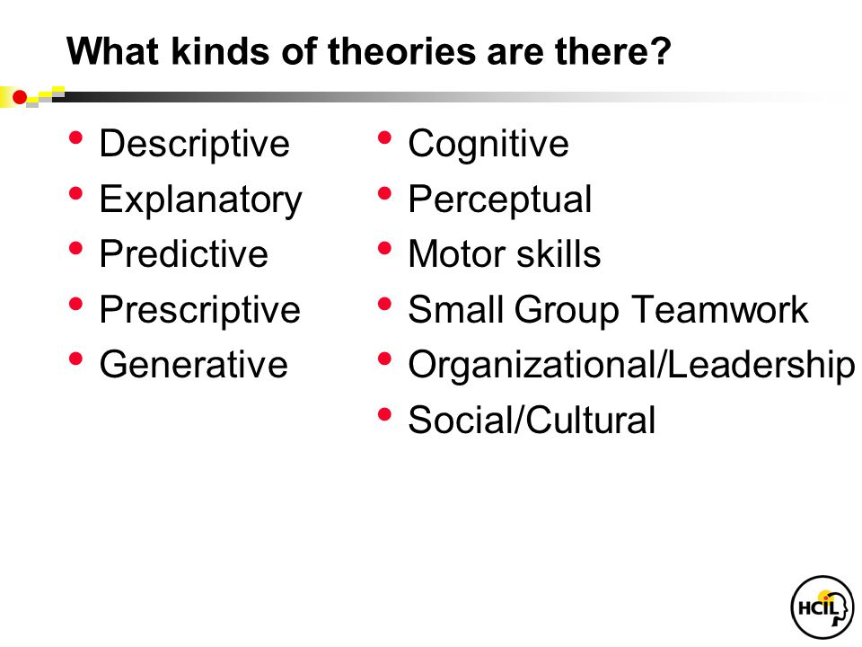 What kinds of theories are there.
