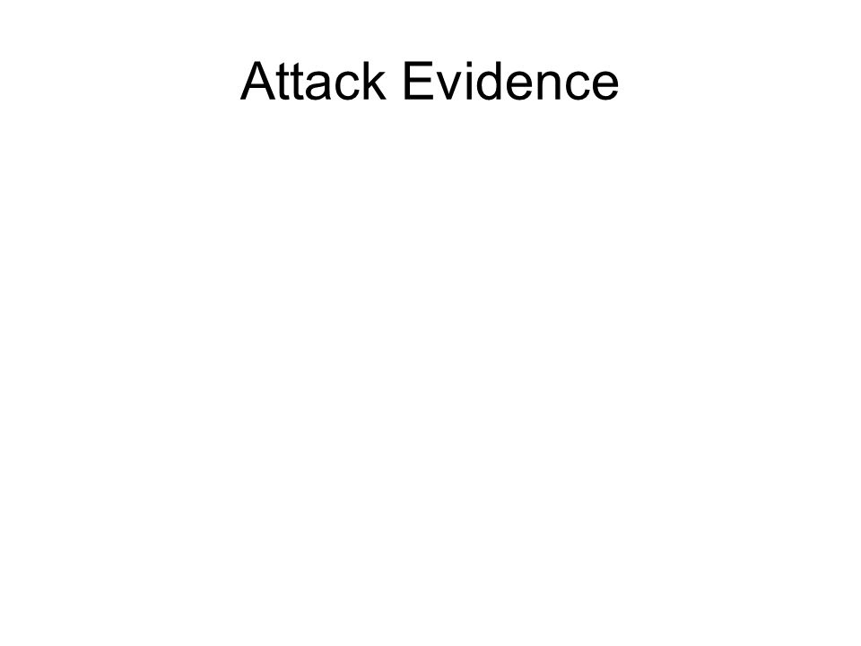 Attack Evidence