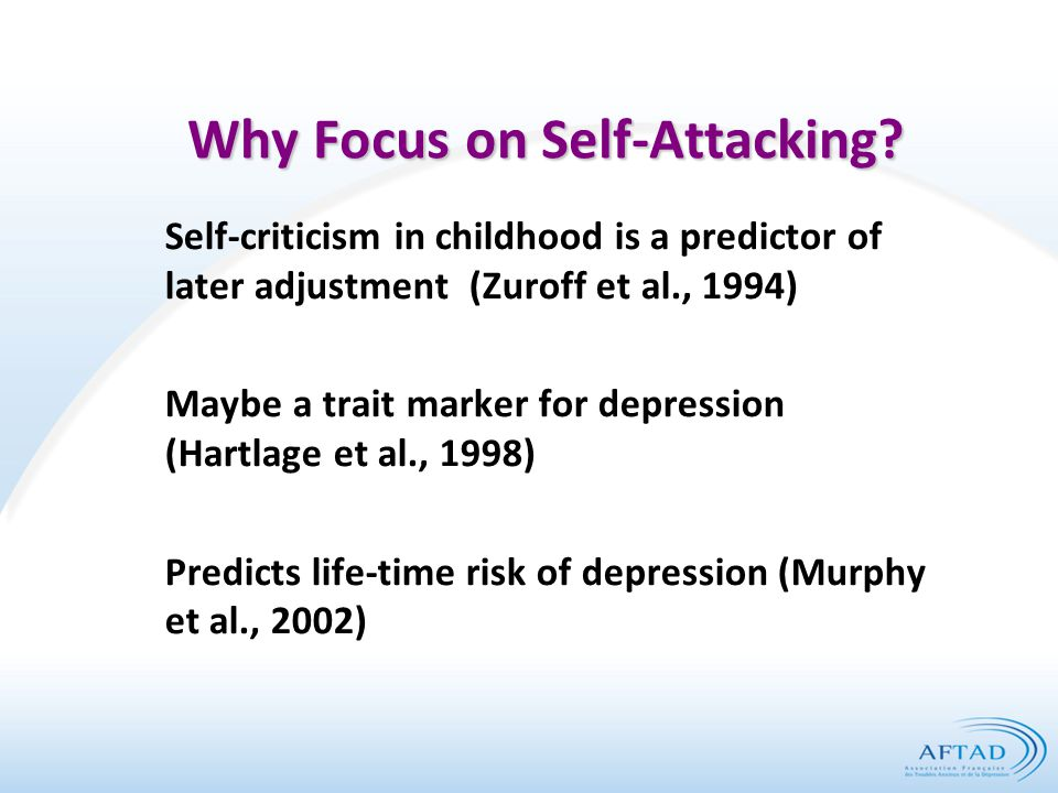 Why Focus on Self-Attacking.