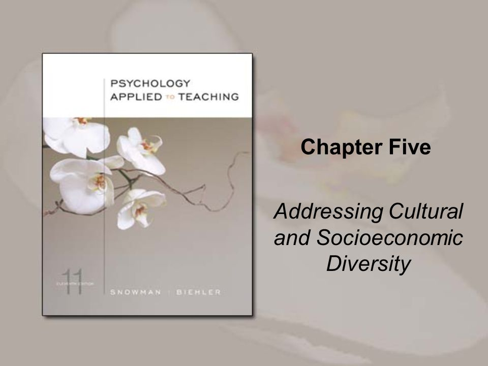 Chapter Five Addressing Cultural and Socioeconomic Diversity