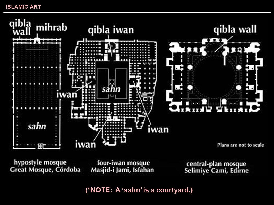 ISLAMIC ART (*NOTE: A 'sahn' is a courtyard.)