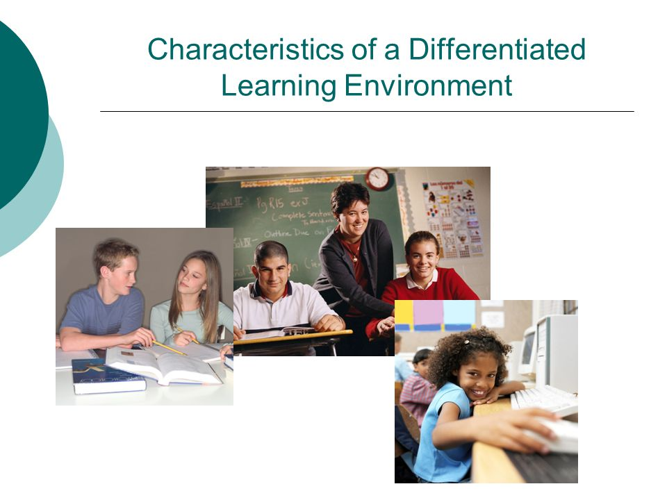 Characteristics of a Differentiated Learning Environment